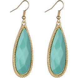 Jones New York Mint Facet Teardrop Earrings