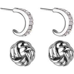 Jones New York Knot & Huggie Stud Earring Set