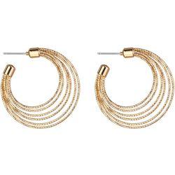 Jones New York Gold Tone Diamond Cut Hoop Earring