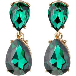 Jones New York Green Double Teardrop Earrings