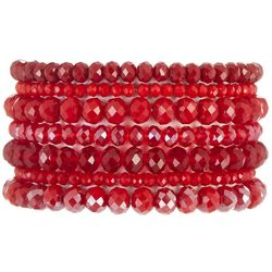 Jones New York Multi Row Red Glass Bead Bracelets