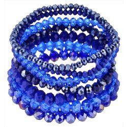Jones New York Multi Row Blue Bead Stretch Bracele