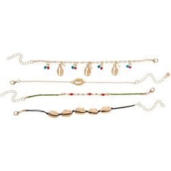 Bay Studio 4 Pc Cowrie Shell Charm Bracelet Set