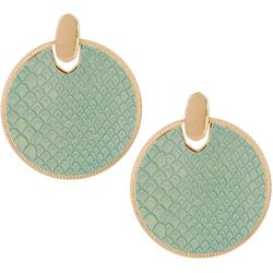 Bay Studio Snake Print Disc Drop Earrings