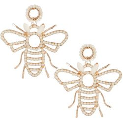 Bay Studio Pearl & Seedbead Bee Statement Earring