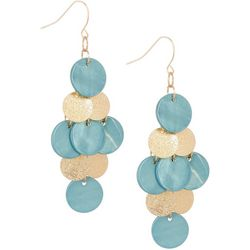 Bay Studio Turquoise Shell Kite Chandelier Earring