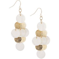 Bay Studio White Shell Kite Chandelier Earrings