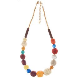 Bay Studio Multi Bead Wrapped Necklace