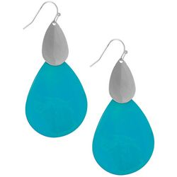 Bay Studio Long Turquoise Shell Teardrop Earrings