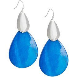 Bay Studio Long Dyed Blue Shell Teardrop Earrings