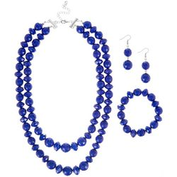 Bay Studio 3-pc Royal Blue Beaded Necklace Set