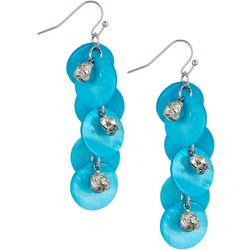 Bay Studio Turquoise Shell & Crystal Earrings