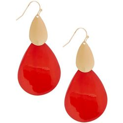 Bay Studio Coral Shell Teardrop Earrings