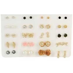 By The Bay  New York 9 Pc. Goldtone Earring Set