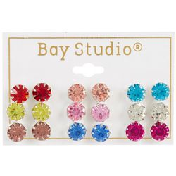 By The Bay New York 9 Pc. Colorful Stud Earring Set