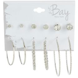 By The Bay New York 6-pc. Graduated Size Hoop Earring Set
