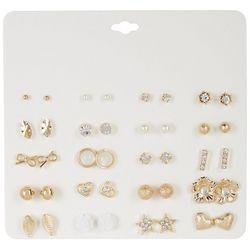By The Bay New York 20 Pc. Gold Tone Stud Earring Set