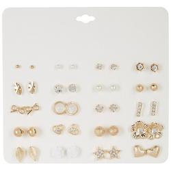 20 Pc. Gold Tone Stud Earring Set