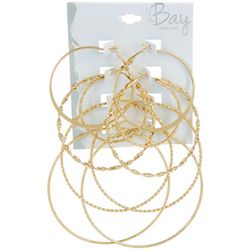 By The Bay New York 5 Pc. Graduated Size Hoop Earring Set