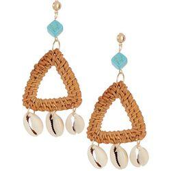 Bay Studio Shakey Shells Woven Triangle Drop Earrings