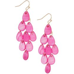 Bay Studio Shakey Teardrop Shell Chandelier Earrings