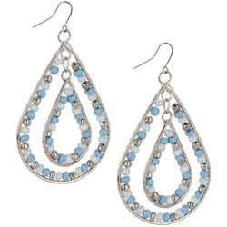 Bay Studio Orbital Seed Bead Teardrop Earrings