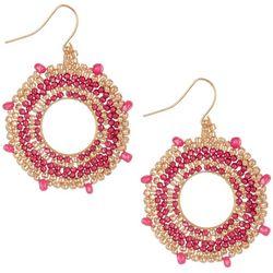 Bay Studio Pink Beaded Ring Earrings
