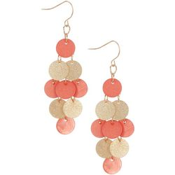 Bay Studio Shakey Shell Two-Tone Chandelier Earrings