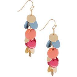 Bay Studio Shakey Colorful Discs Linear Earrings