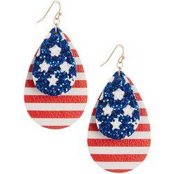Bay Studio Patriotic Teardrop Earrings
