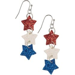 Bay Studio Patriotic Glitter Star Dangle Earrings