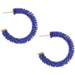 Bay Studio Seed Beaded C-Hoop Earrings