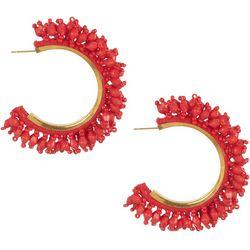 Bay Studio Solid Beaded C-Hoop Earrings