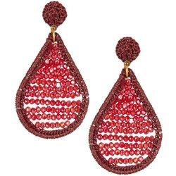 Bay Studio Crochet Beaded Teardrop Earrings