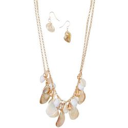 Bay Studio Stone Beaded Necklace & Earring Set