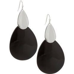 Bay Studio Layered Teardrop Black Shell Earrings
