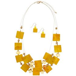 Bay Studio Yellow Shell Illusion Necklace Set