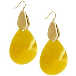 Bay Studio Long Dyed Yellow Shell Teardrop Earring