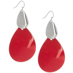Red Shell Teardrop Earrings