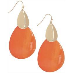 Layered Teardrop Shell Earrings