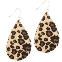 Bay Studio Leopard Faux Fur Drop Earrings