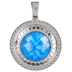 Wearable Art By Roman Blue Marble Pendant