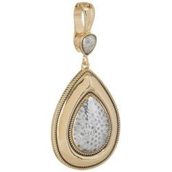 Wearable Art By Roman Two Tone Teardrop Pendant