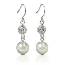 Roman Faux Pearl & Crystal Drop Earrings
