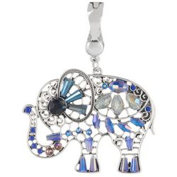 Wearable Art By Roman Beaded Elephant Pendant