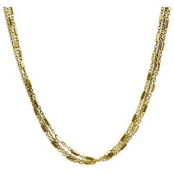 Wearable Art By Roman Gold Tone 3 Row Chain Necklace
