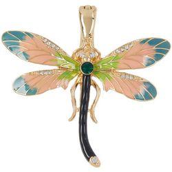 Wearable Art By Roman Dragonfly Rhinestone & Enamel