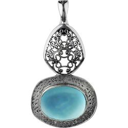 Wearable Art By Roman 2 Tiered Blue Stone Pendant