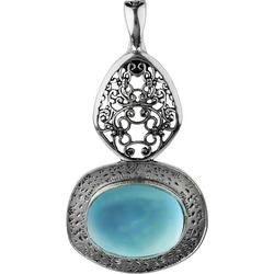 By Roman 2 Tiered Blue Stone Pendant