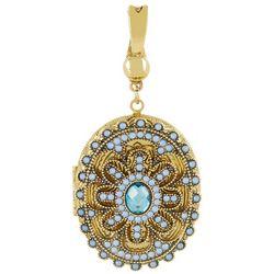 Wearable Art By Roman Blue Locket Pendant